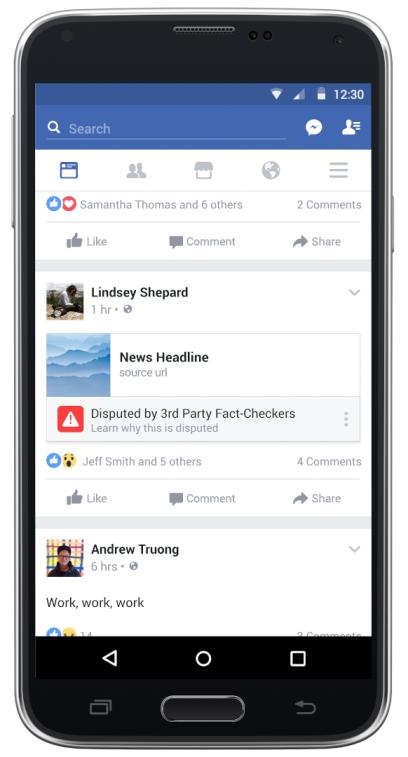 Facebook news fact checking