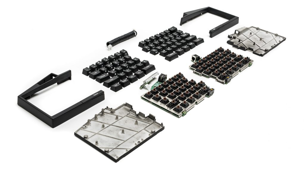 ultimate hacking keyboard exploded view